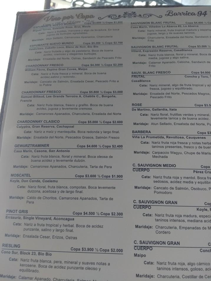menu barrica 94